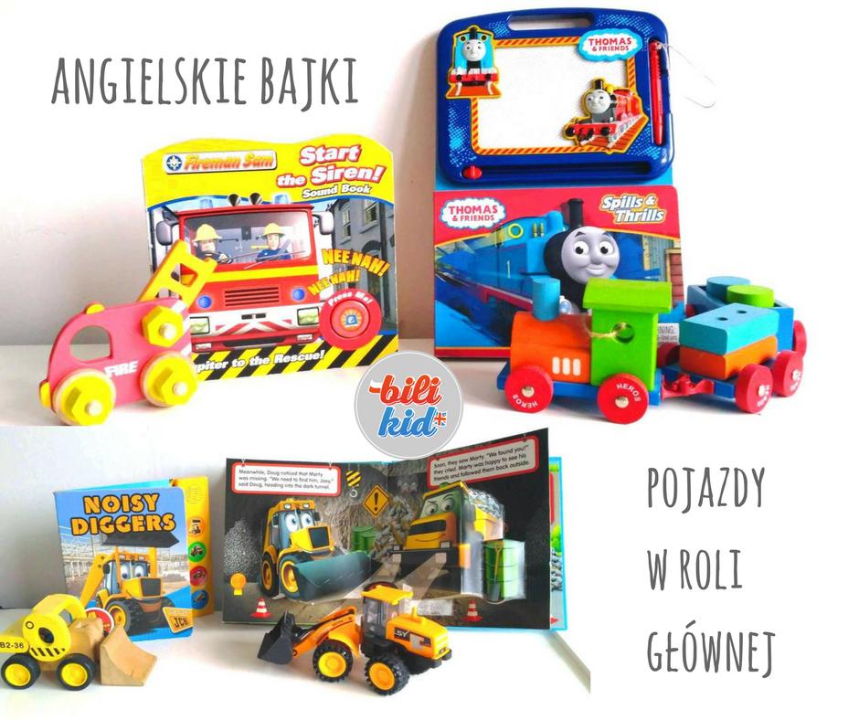 Bajki dla dzieci po angielsku – bajki o pojazdach – część 3